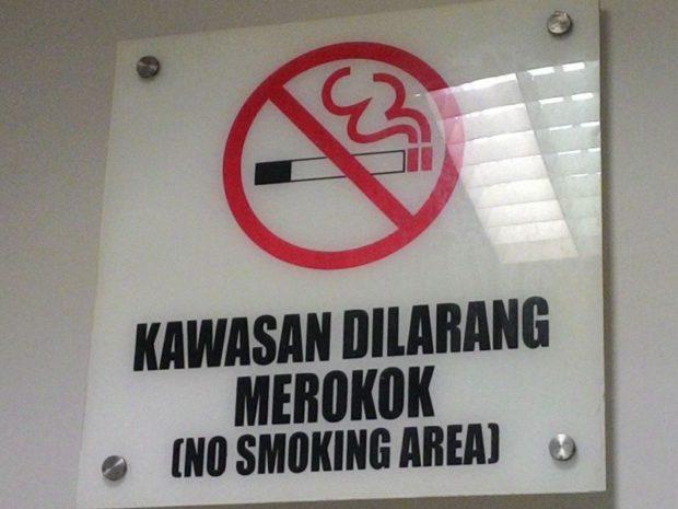 Merokok di Areal Rumah Sakit Tabanan, PNS dan Buruh Bangunan Kena Sidak KTR