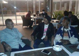 Emanuel Beti serta keluarga menemui LPSK di Aston Hotel Kupang.