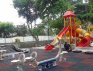 Taman Puputan Dilengkapi Permainan Anak dan Gym