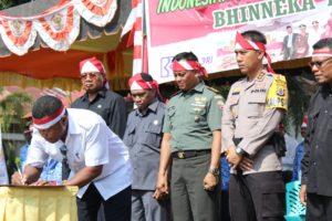 Pemimpin Flotim menandatangani ikrar Nusantara Bersatu