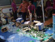 Ribuan Liter Miras Hasil Operasi Pekat Dimusnahkan