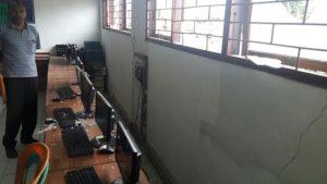 Kondisi lab. komputer SMK 6 Kupang pasca dirusak OTK. Foto: balinewsnetwork/amar ola keda.