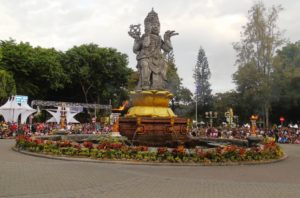 Kawasan Catur Muka ini menjadi pusat perayaan tahun baru. Foto: bnn/rahman