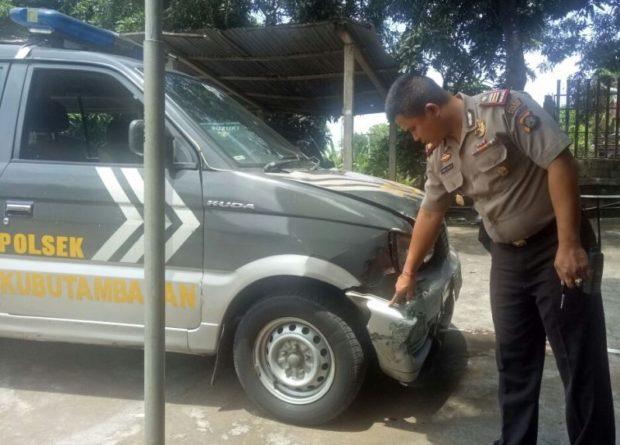 Tabrak Mobil Polisi,  Pemabuk Tewas