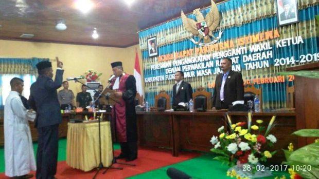 Roby Resmi Jadi Wakil Ketua DPRD Flotim