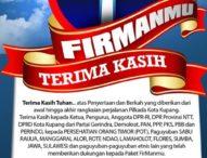 Jeriko-Herman Resmi Ditetapkan Jadi Walikota dan Wakil Walikota Kupang