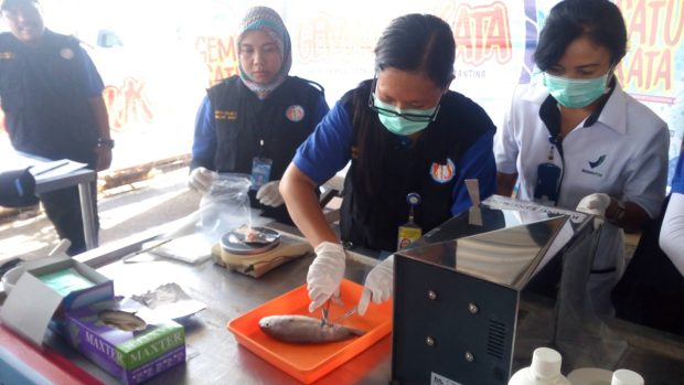 BKIPM Uji Kandungan Formalin Ikan di Pasar Kedonganan, Hasilnya Negatif