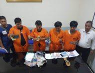 Sasar Nasabah Bank, Kawanan Curas Asal Palembang Bermodus Kepruk Kaca danCoblos Ban Dibekuk