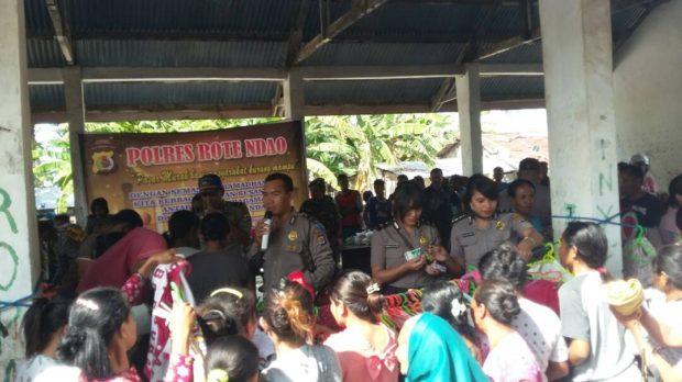 Giat Amal Polres Rote Ndao – Dari Masyarakat Kurang Mampu Hingga Tempat Ibadah