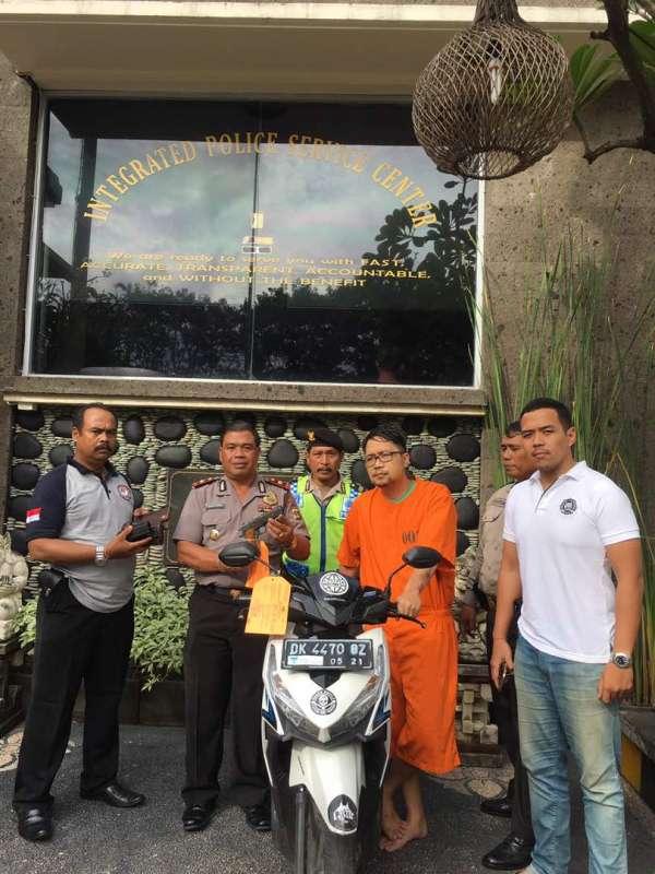 Ditangkap, Spesialis Pencuri Ngaku Jadi Intel Polda Bali