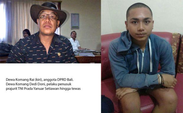 Penusuk Prajurit TNI Hingga TewasTernyataPutra Anggota DPRD Bali Dewa Nyoman Rai