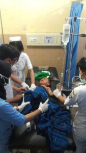 Salah satu korban saat diberikan perawatan di RS Bangli. Foto: bnn/ist.