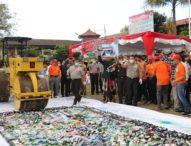 BB Narkoba Sitaan Dimusnahkan Polda Bali