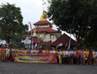 Sambut Hari Polwan ke-69, Polwan Polda Bali Tirta Yatra & Bersihkan Puja Mandala