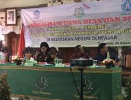 Kejari Denpasar Ingatkan Perbekal Hati-hati Gunakan Dana Desa