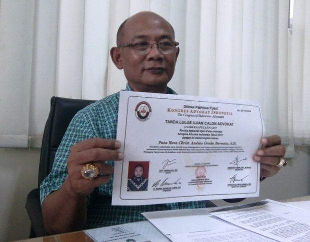 PT Bali Bantah Mengambil Sumpah Advokat Bodong
