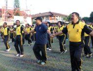 HUT Polwan ke-69 dan HKGB, Ribuan Polisi Polda Bali Olahraga Bersama