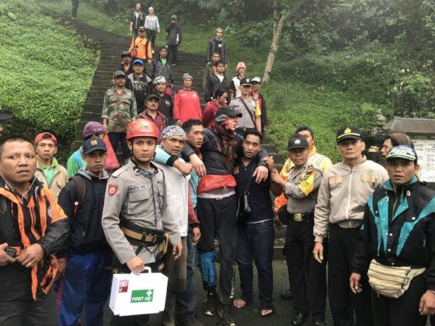 Daki Gunung Agung Tiga Turis Jerman Jatuh ke Jurang, Selamat Penuh Luka