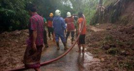 Akibat Hujan Deras, Tanah Longsor Landa Petang, Badung