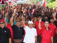 Lagi, Ribuan Warga Empat Desa di Kediri Bulatkan Tekad Menangkan Koster-Ace