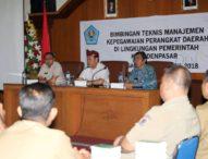 Tingkatkan Pelayanan Masyarakat- Sejumlah PNS Denpasar Ikuti Bimtek Manajemen Kepegawaian