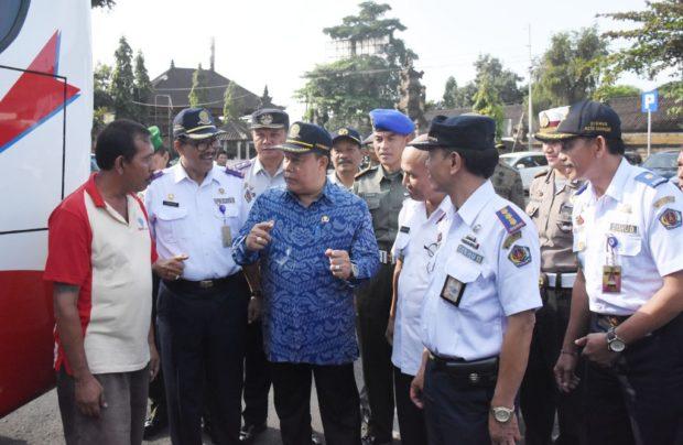 Pembukaan Posko Terpadu Angkutan Lebaran – Pemkot Denpasar Gandeng TNI-POLRI dan BNN Kota Denpasar
