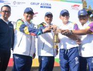Diterima Wawali Jaya Negara-Torch Relay' Asian Games XVIII Melintasi Kota Denpasar