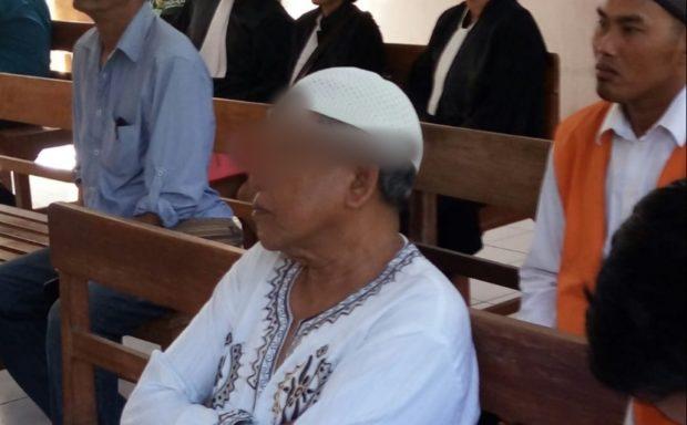 Perkosa Anak Angkatnya Sebanyak Tiga Kali, Kakek 69 tahun Terancam 15 Tahun Penjara
