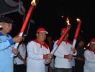 Sambut HUT Kemerdekaan RI, 2.500 Siswa ikuti Pawai Obor di Lumintang
