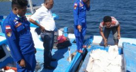 Di Perairan Nusadani-Solor,Tim Patroli Laut Hadang KMN Tak Berdokumen