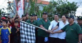 Ajak Masyarakat Selalu Jaga Kebersihan, Rai Mantra Lepas Jalan Santai Desa Pemogan