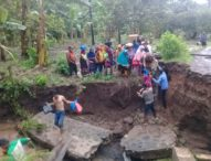 Diterjang Banjir, Jembatan Ambruk, Akses Jalan Menanga–Liwo Lumpuh