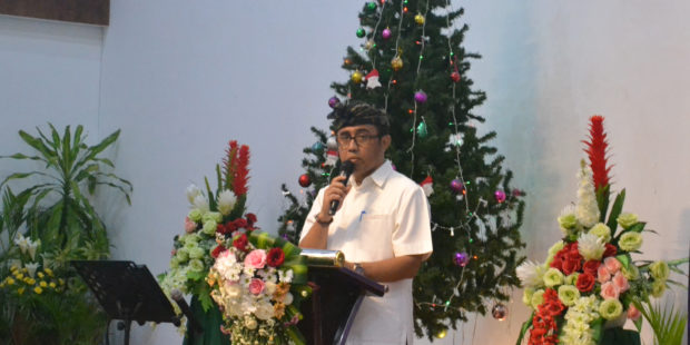 Hadiri Perayaan Natal MPAG Kota Denpasar, Jaya Negara Ingatkan Makna Toleransi Antar Umat Beragama