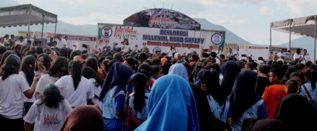 Polres Flotim Gelar Road Millenial Safety Festival