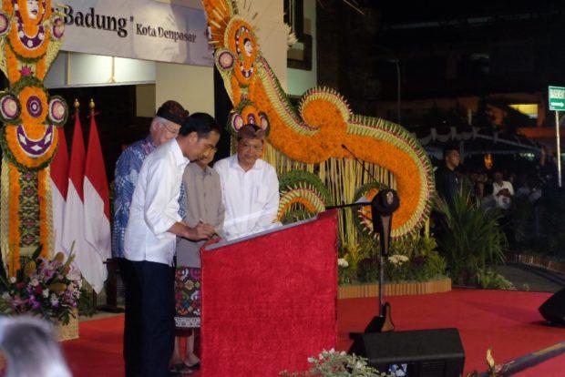 Resmikan Pasar Badung, Jokowi Sebut Arsitektur Pasar Terbaik se-Indonesia
