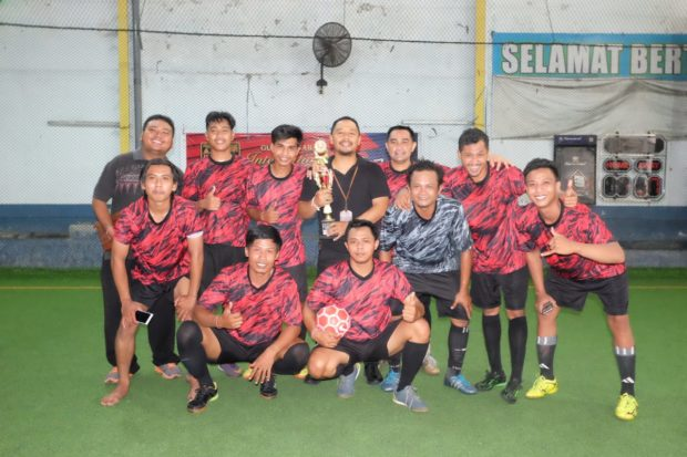 Tim Humas Denpasar Sabet Juara I Turnamen Futsal Kemitraan HPN Provinsi Bali 2019