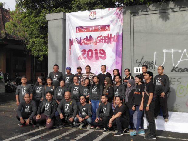 KPU Provinsi Bali Gelar Lomba Mural Pemilu Serentak 2019 di Desa Dangri Kangin