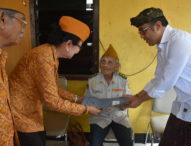 Peringati Peristiwa Serangan Umum Kota Denpasar ke-72, Empat Veteran dapat Bantuan Rp. 15,5 Juta