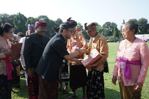 Jaya Negara Pimpin Apel Peringatan Serangan Umum Kota Denpasar ke-73