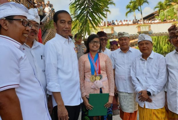 Presiden Jokowi Apresiasi Prestasi Internasional Siswa SMPN 3 Denpasar