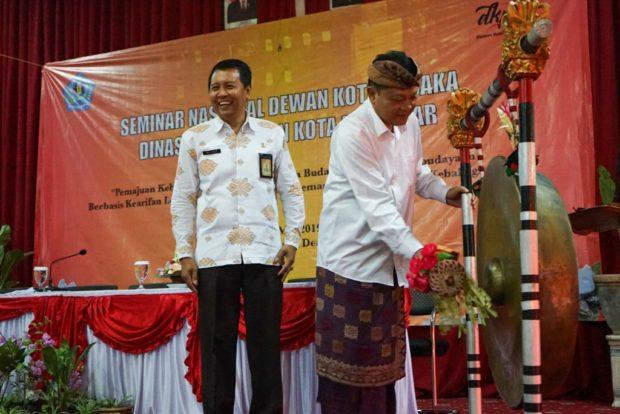 Rai Mantra Buka Seminar Nasional Dewan Kota Pusaka Kota Denpasar