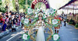 Duta Denpasar Tampilkan Tari Kipas dan Baris Tengklong Pada Pembukaan PKB XLI