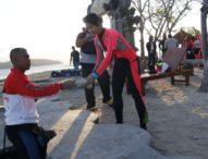 Kapolda dan Jajaran Bersihkan Sampah Plastik di Pulau Menjangan