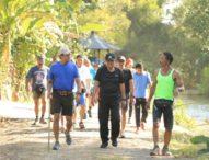 Rai Mantra IkutiHashSejauh 3 KM, Susuri Pematang Sawah Hingga bebatuan Terjal di Kerambitan