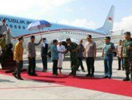 Pangdam dan Wakapolda Sambut Kedatangan Wakil Presiden Jusuf Kalla