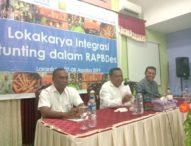 Bupati Anton Hadjon Himbau Para Kades Masukan Masalah Stunting SebagaiProgram Pembangunan Desa