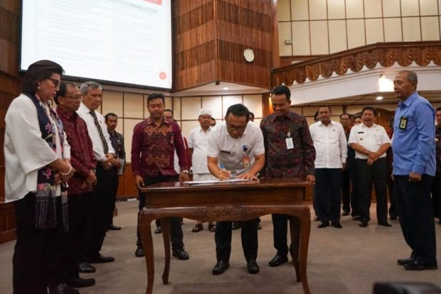 Pemkot Tandatangani Nota Kesepahaman Dengan Bank BPD Bali dan BPN