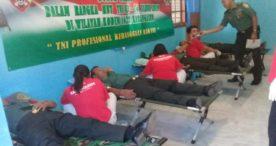 Kodim Karangasem Bersama PMI Gelar Donor Darah