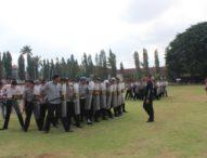 161 Personil Polres Klungkung Latihan Sispamkota
