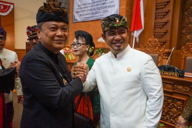 Pimpinan DPRD Kota Denpasar Periode 2019-2024 Dikukuhkan